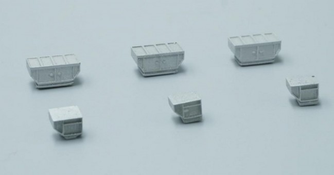 Cargo Container Set  of 6 Accessories FWDP401  scale 1:400