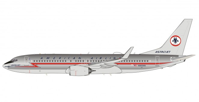 American Astrojet Polished livery Boeing 737-800 N905NN with stand InFlight IF738AA0120P scale 1:200
