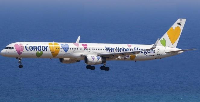 """Condor Boeing 757-300 """"Wir lieben Fliegen"""" D-ABON JC Wigns JC4CFG154 scale 1:400"""