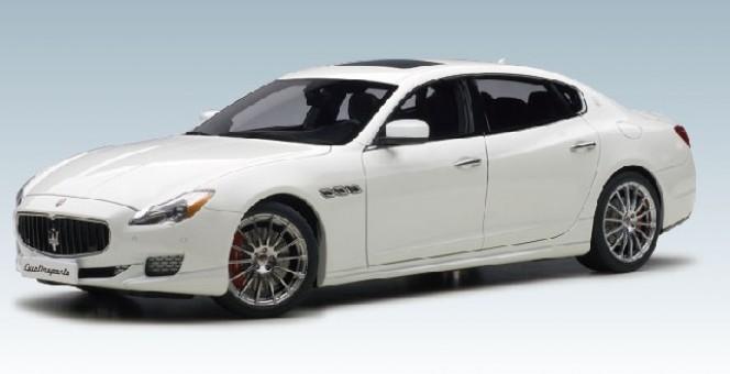Alpinte White Maserati Quattroporte GTS 2015 AUTOart 75808 Die-Cast Scale 1:18