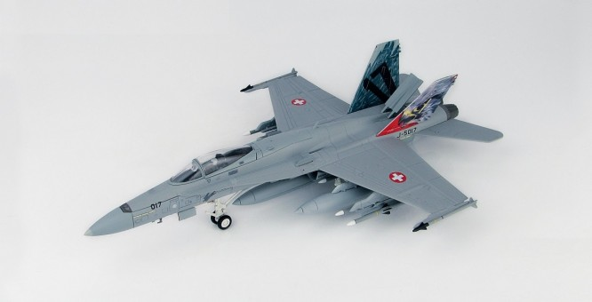 Swiss Air Force F/A-18C Payerne Air Base 2018 Staffel 17 HA3599 scale 1:72