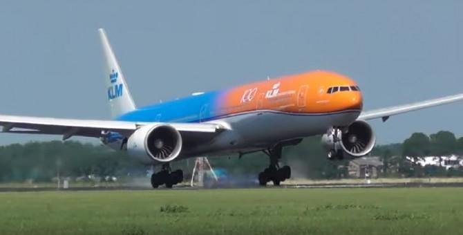 KLM Boeing 777-300ER Orange Pride 100 Years PH-BVA JC Wings JC2KLM321 scale 1:200