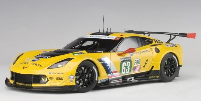 Corvette C7.R Le Mans 24hrs 2016 Magnussen, Garcia, Taylor #63 Yellow AUTOart 81605 scale 1:18