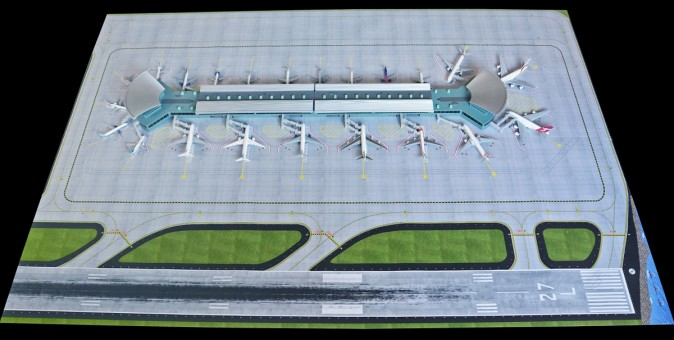 New Airport Mat for Airport Terminal Double Rotunda GJAPS008 GeminiJets scale 1:400
