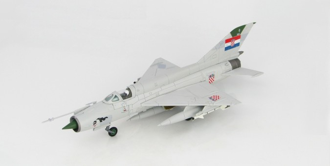 Croatian Air Force MIG-21BIS 1st Fighter Squadron 1993 Hobby Master HA0193 scale 1:72