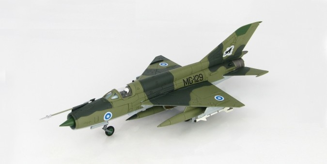 Finnish MIG-21 BIS 31st Fighter Squadron Kuopio Airbase Finland 1980 Die-cast HA0192 Scale 1:72