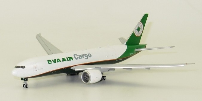 Flaps Down EVA Air cargo Boeing 777F registration B-16781 JC Wings ALB4EVA06A scale 1:400