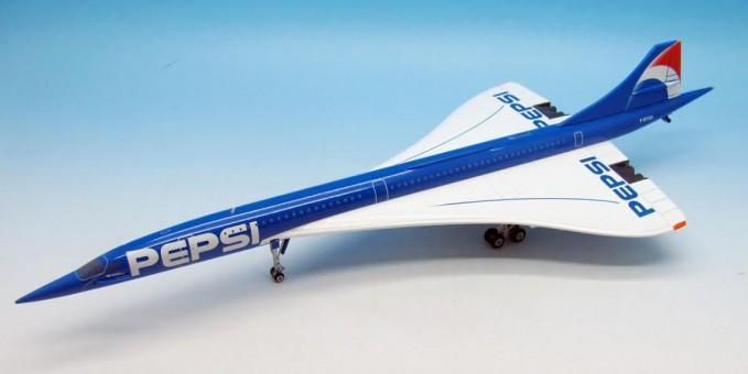 Pepsi Concorde w/ Stand JFOX/ InFlight Model JFI-CONC-001 Scale 1:200