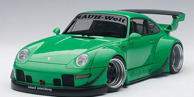 Gren RWB 993 (Porsche) Grey Wheels AUTOart 78151 Scale 1:18