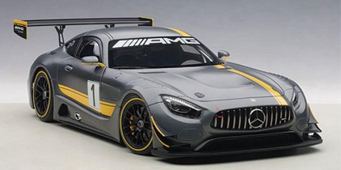 Grey Mercedes AMG GT3 Matt Grey Composite AUTOart 81530 1:18
