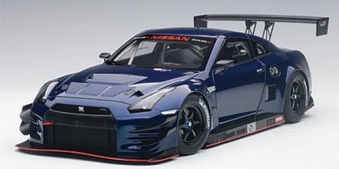 Nissan GT-R LM Nismo GT-3 aurora flare blue pearl AUTOart 81584 Scale 1:18