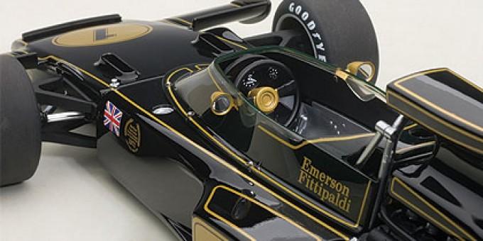 Lotus 72E 1973 Emerson Fittipladi #1 Black Composite Figure 87327 Scale 1:18
