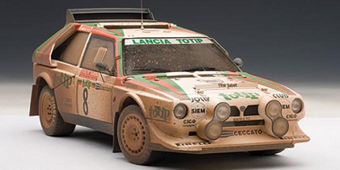 Lancia S4 Rally San Remo 1986 Cerrato/Cerri #8, Muddy Finish, LE 1,000 pcs 88619 AUTOart 1:18