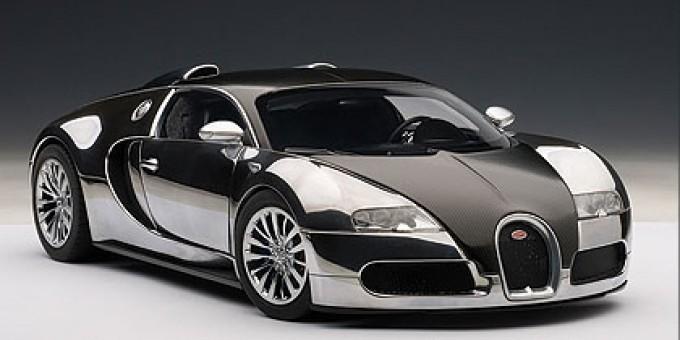 Black Bugatti EB Veyron 16.4 Pur Sang AUTOart AU70966 Scale 1:18