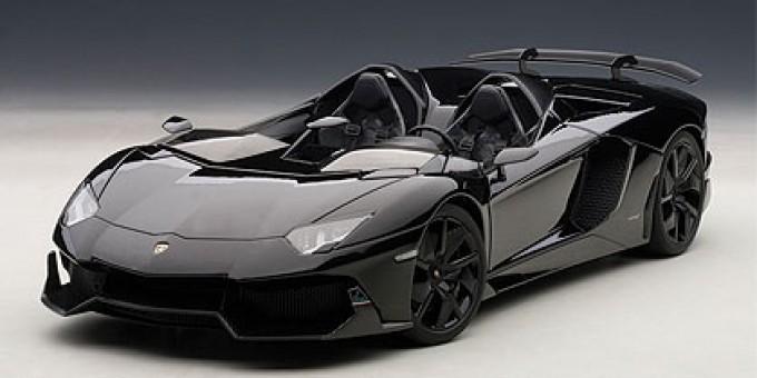 Black Lamborghini Aventador J AUTOart 74676 Scale 1:18