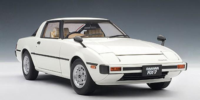 Aurora White Mazda Savanna RX-7 (SA) AUTOart 75982 Scale 1:18