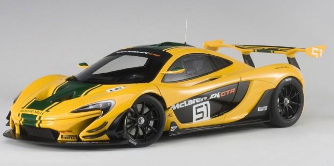 Yellow McLaren P1 GTR 2015 Geneva Motor Show AUTOart 81544 die-cast scale 1:18