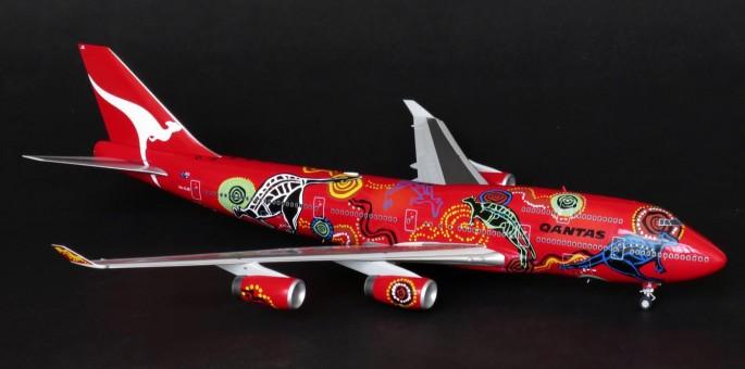 """JC Wings Qantas B747-400 """"Wunala-RR"""" VH-OJB w/ Stand JC2QFA922 Scale 1:200"""