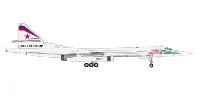 Russian Air Force TU-160 RF-94105 die-cast Herpa 559867 scale 1:200