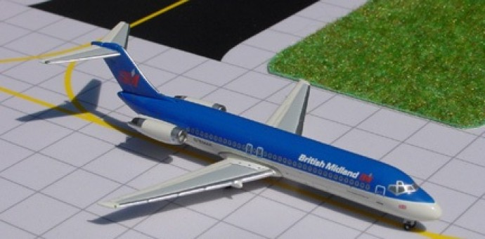 Rare! British Midland BMI Douglas DC-9 Reg# G-BMAk by SMA Scale 1:400