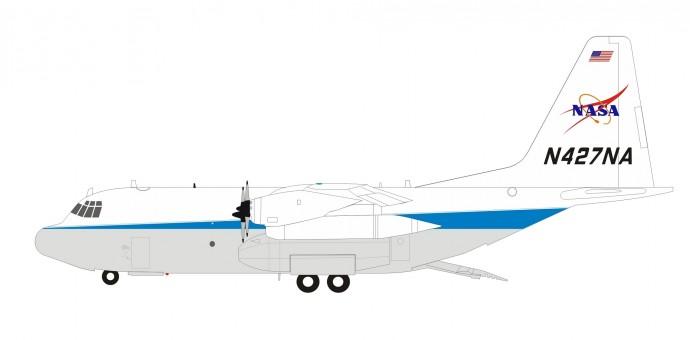 NASA Lockheed EC-130Q Hercules N427NA with stand Inflight200 IF130NASA01 scale 1:200
