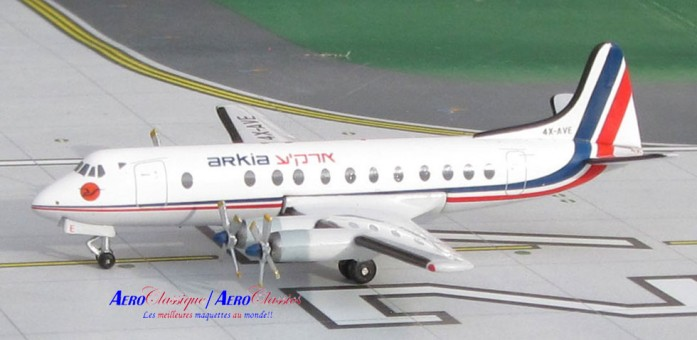 Arkia (Israel) Vickers Viscount 800 Reg# 4X-AVE Aero Classics scale 1:400