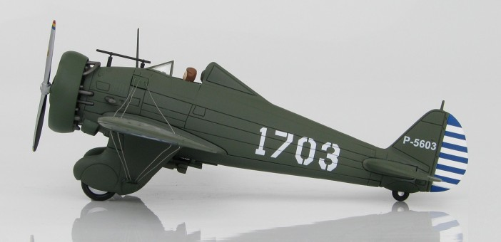 P-26A Peashooter Chinese Air Force Nanking WWII HA7510 Die Cast 1:48