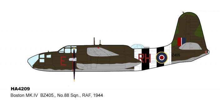 Douglas Boston Mk.V RAF No.88 Squadron RAF 1944 HA4209 Hobby Master Scale 1:72