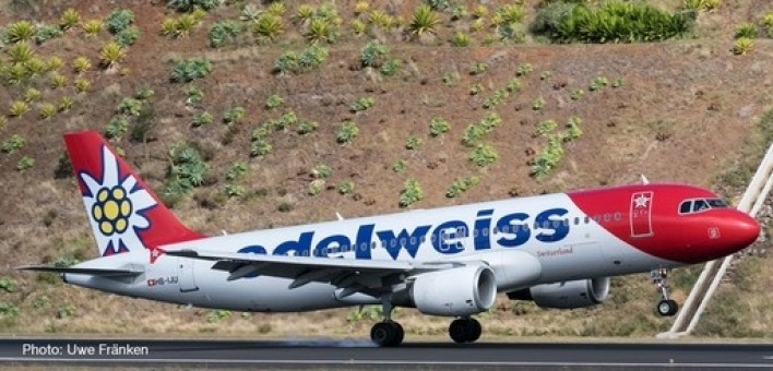 Edelweiss Airbus A320 New Livery Herpa Wings 559584 Scale 1:200