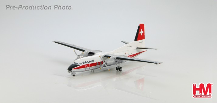 Balair 1970s Fokker F-27 Friendship HB-AAU