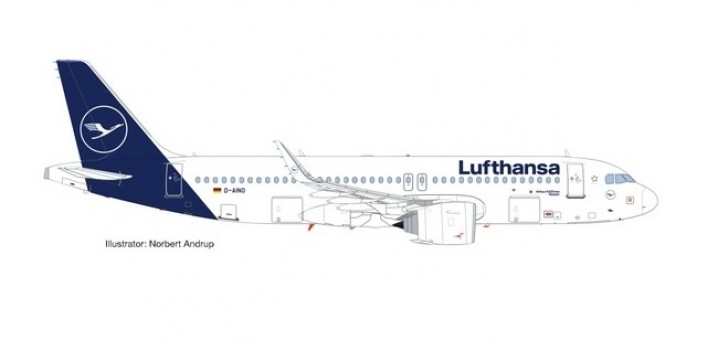 Lufthansa Airbus A320 D-AIND New Livery Herpa Wings 559768 Scale 1:200