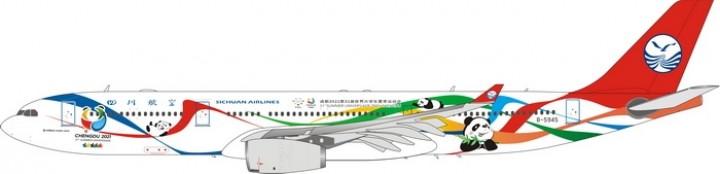 Sichuan Airlines Airbus A330-300 B-5945 Chengdu 2021 四川航空 Phoenix 11596 die-cast scale 1:400