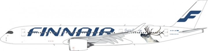 Finnair Airbus A350-900 Happy Holidays Reg# OH-LWD Phoenix Models 100055A Scale 1:200