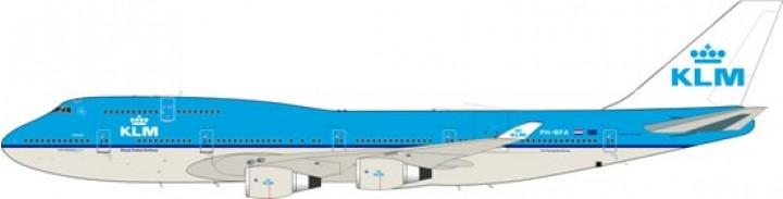 """Jet-X Model KLM Boeing B747-400 """"Atlanta""""  Reg# PH-BFA JETVI15002 Scale 1:200"""