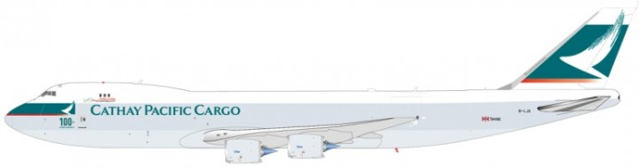 Cathay Pacific Cargo 100th Boeing 747-8F Reg# B-LIC JC2MIS803 Scale JC 1:200