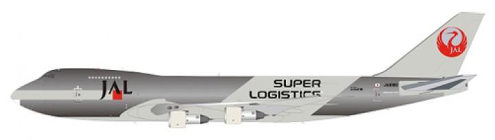 Japan Airlines - JAL Super Logistics Boeing B747-200 Polished w/ Stand Reg# JA8180 JFI-747-2-014 JFOX
