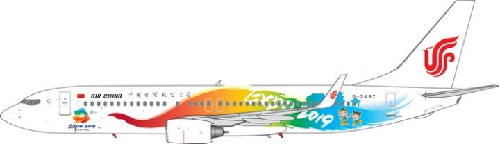 Air China Beijing EXPO 2019 Boeing 737-800 Reg B-5497 Phoenix Model 11469 Scale 1:400