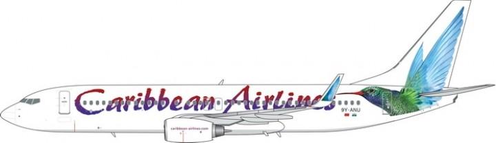 Caribbean Airlines Boeing 737-800 9Y-ANU Hummingbird Phoenix Model 11507 scale 1:400