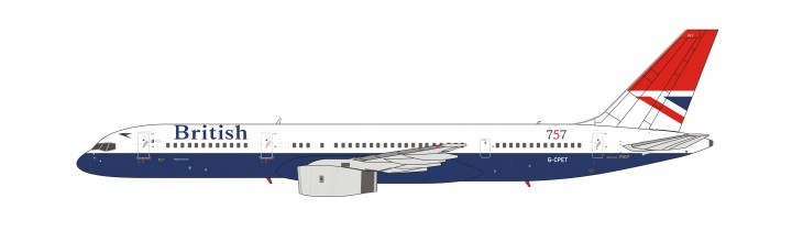 Negus Tail: British Airways Boeing 757-200 G-CPET NG Models 53029 scale 1:400