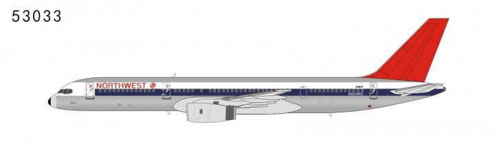 Northwest Airlines 757-200 N604RC full NW color, red tail (1:400) NG53033