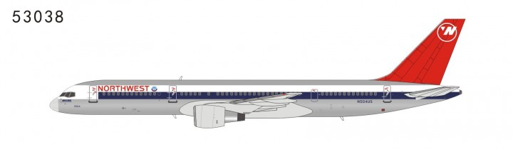 Northwest Airlines 757-200 N504US full NW color,red tail with NW logo (1:400) NG53038