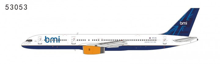 BMI British Midland 757-200 TF-FII Hybrid of BMI & Icelandair (1:400) limited to 100 PCS, with limited card