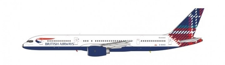 British Airways 752 Scotland tail Benyhone Tartan G-BIKO NG Models 53077 scale 1400