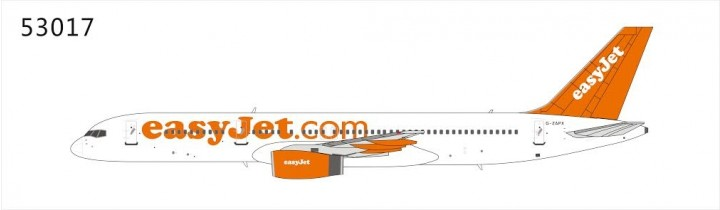 easyjet  757-200G-ZAPX NG Models die cast scale 1:400
