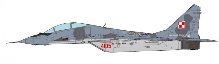 "MiG-29UB Fulcrum Polish Air Force ""22nd TAB"" JCW-72-MG29-007 JC Wings scale 1:72"
