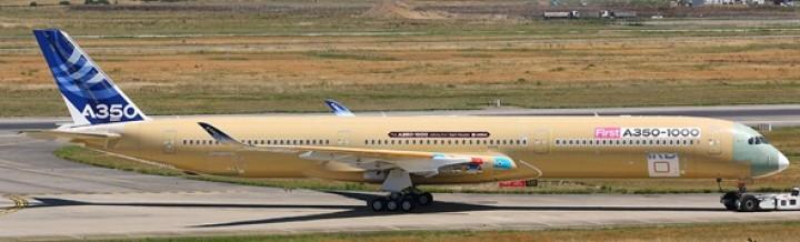 New Mould! Airbus A350-1000 Bare Metal Flaps Reg# F-WMIL JC4AIR110A 1:400
