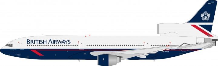 British Airways L-1011 Reg# G-BHBN Limited JFox Models JF-L1011-007 Scale 1:200