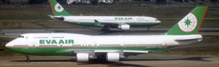 EVA air 747-400 New Colors Reg# B-16410 Blue Box BBOX2528 200 scale metallic model