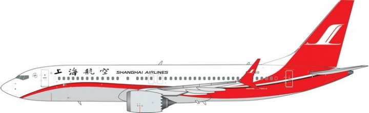 Shanghai Airlines Boeing 737-800 Max Reg B-1260 Phoenix Model 11461 Scale 1:400