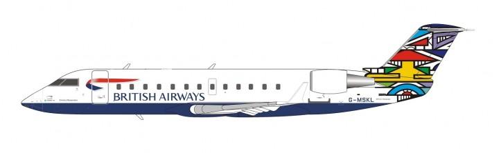 "British Airways CRJ-200LR G-MSKL ""Ndebele"" (South Africa) NG Models 52029 scale 1:200"